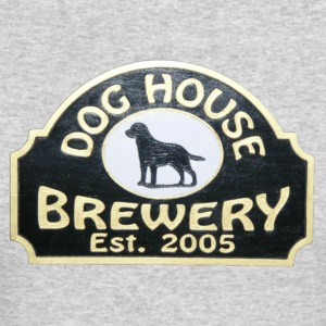 Dog House Brewery - Men's Long Sleeve T-Shirt Gray - Hair of the Dog - Men's Long Sleeve T-Shirt by Next Level