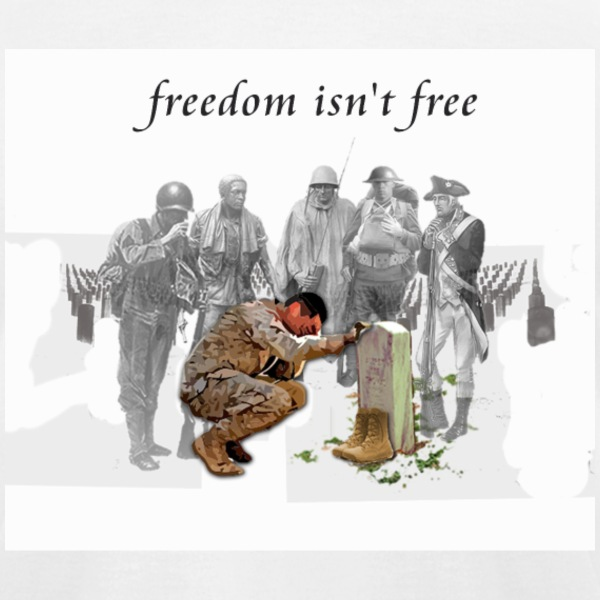 Freedom isn't Free T-Shirts - Men's T-Shirt by American Apparel