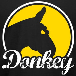 Donkey Poker - Dark - Men's T-Shirt by American Apparel
