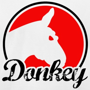Donkey Poker - Light - Men's T-Shirt by American Apparel
