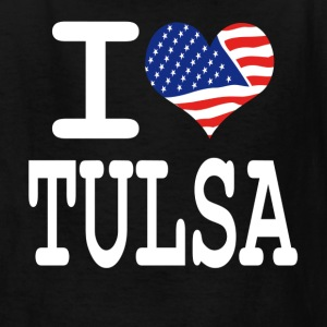 i love tulsa - white Kids' Shirts - Kids' T-Shirt