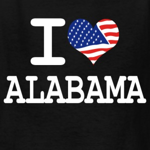 i love alabama - white Kids' Shirts - Kids' T-Shirt