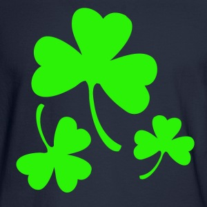 3 Neon Green Shamrocks Long Sleeve Shirts - Men's Long Sleeve T-Shirt