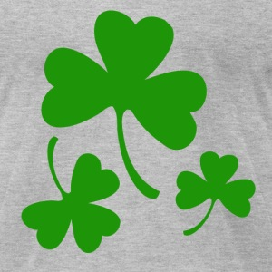 3 Three Leaf Clovers T-Shirts - Men's T-Shirt by American Apparel