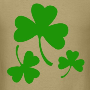 3 Three Leaf Clovers T-Shirts - Men's T-Shirt