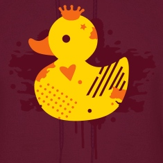 A duck with a crown as a graffiti Hoodies