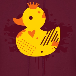 A duck with a crown as a graffiti Hoodies - Men's Hoodie