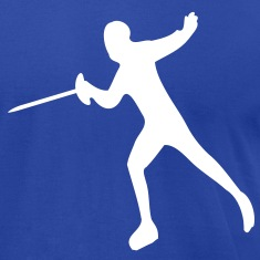 Fencing martial sport Men's T-Shirt by American Apparel