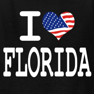 i love florida - white Kids' Shirts - Kids' T-Shirt