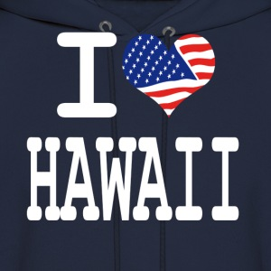 i love hawaii - white Hoodies - Men's Hoodie