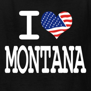 i love montana - white Kids' Shirts - Kids' T-Shirt