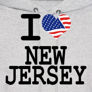 i love new jersey Hoodies - Men's Hoodie