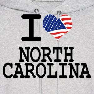 i love north carolina Hoodies - Men's Hoodie