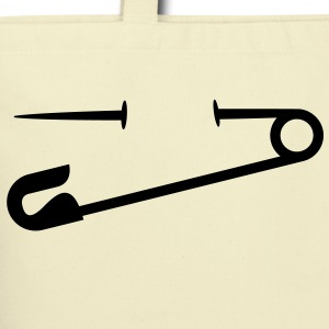 Safety Pin (1c)++ Bags  - Eco-Friendly Cotton Tote