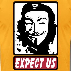 Expect Us vec T-Shirts - Men's T-Shirt by American Apparel
