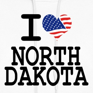i love north dakota Hoodies - Women's Hoodie