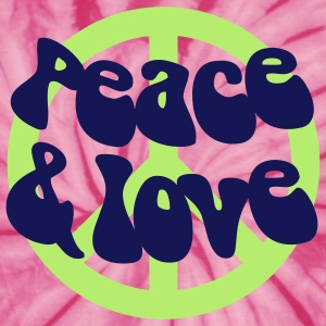 Groovy Peace and Love - Unisex Tie Dye T-Shirt