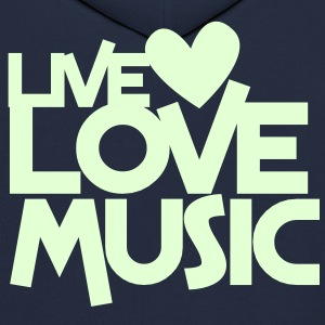 live love music Hoodies - Men's Hoodie