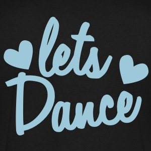 lets dance with cute little love hearts T-Shirts - Men's V-Neck T-Shirt by Canvas