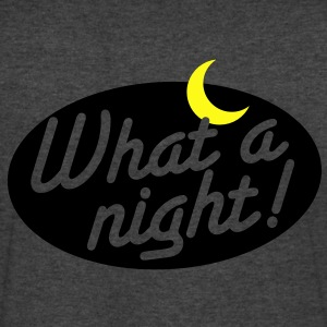 what a night! with a crescent moon T-Shirts - Men's V-Neck T-Shirt by Canvas