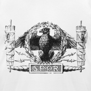 Roman Eagle With SPQR Sign (2nd version) - Men's T-Shirt by American Apparel
