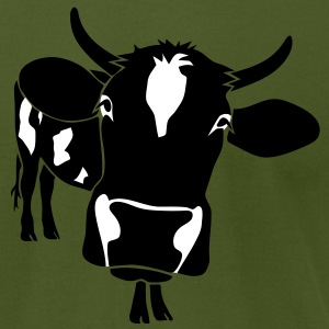 cow bull ox milk farmer farm country cows dairy pregnant milker beef steak T-Shirts - Men's T-Shirt by American Apparel