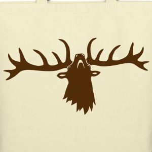 wild stag deer moose elk antler antlers horn horns cervine hart bachelor party night hunter hunting Bags  - Eco-Friendly Cotton Tote