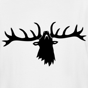 wild stag deer moose elk antler antlers horn horns cervine hart bachelor party night hunter hunting T-Shirts - Men's Tall T-Shirt