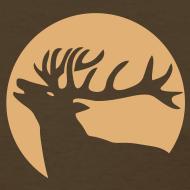 Design ~ animal t-shirt wild stag deer moose elk antler antlers horn horns cervine hart bachelor party night hunter hunting