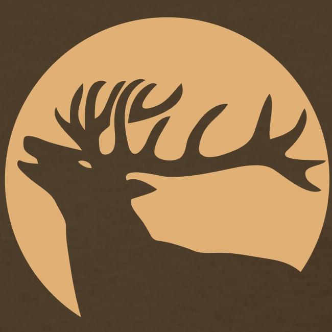 animal t-shirt wild stag deer moose elk antler antlers horn horns cervine hart bachelor party night hunter hunting