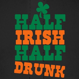 HALF IRISH half drunk ST PATRICK's day humor Caps - Baseball Cap