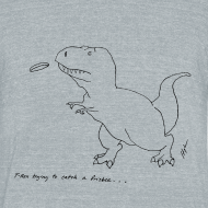 Design ~ T-Rex Frisbee (Am Apparel)