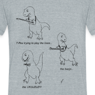 Design ~ T-Rex Ukulele (Am Apparel)