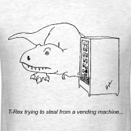 Design ~ T-Rex Vending Machine (Basic Tee)