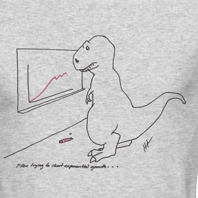 T-Rex Exponential Growth Chart (Long Sleeve)