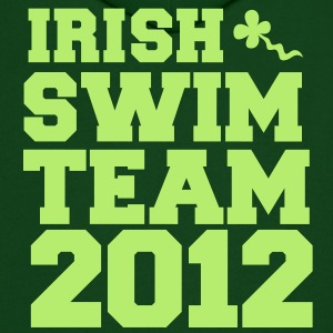 irish swim team year 2012 St Paricks Day design Hoodies - Men's Hoodie