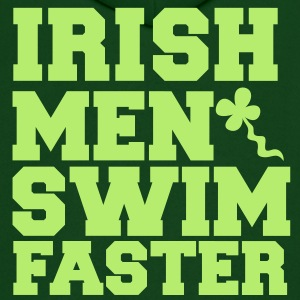 IRISH MEN SWIM FASTER with shamrock sperm St Patrick's day Hoodies - Men's Hoodie