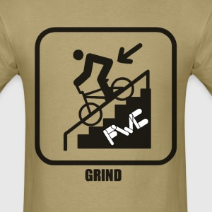 FWC freestyle BMX rail grind down stairs-logo sign - Men's T-Shirt