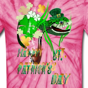 Irish Snake and Well Wishes - Unisex Tie Dye T-Shirt