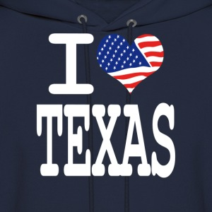 i love texas - white Hoodies - Men's Hoodie