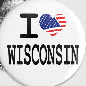 i love wisconsin Buttons - Small Buttons