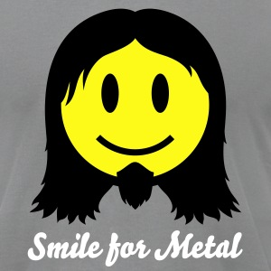 Metal Smiley Icon 2c T-Shirts - Men's T-Shirt by American Apparel
