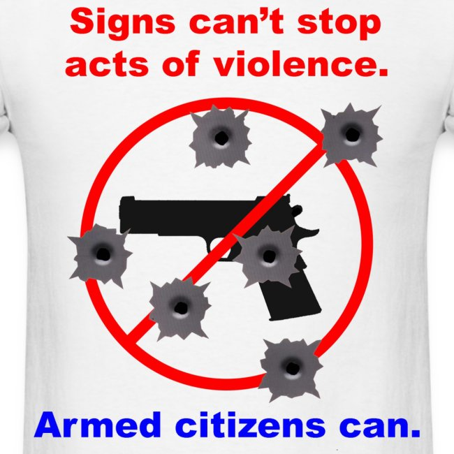 Signs do not stop violence