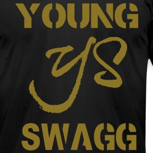 YOUNG SWAGG - Men's T-Shirt by American Apparel