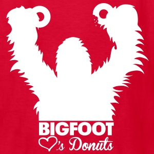 Bigfoot Loves Donuts (White) - Kid's - Kids' T-Shirt
