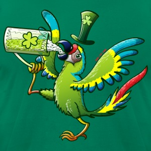 Saint Patrick's Day Macaw T-Shirts - Men's T-Shirt by American Apparel