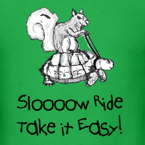 Squirrel Riding A Turtle - Men's T-Shirt