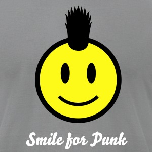 Punk Smiley Icon 2c T-Shirts - Men's T-Shirt by American Apparel