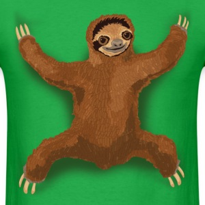 Sloth Love Hug - Green Men's - Men's T-Shirt