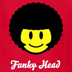 Afro Smiley Icon 2c Kids' Shirts